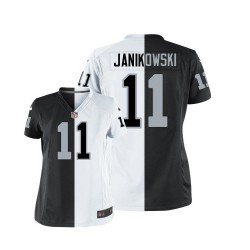 Nike Women's Elite Team/Road Two Tone Jersey Oakland Raiders Sebastian Janikowski 11