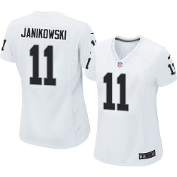 Nike Women's Elite White Road Jersey Oakland Raiders Sebastian Janikowski 11