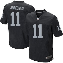 Nike Men's Elite Black Home Jersey Oakland Raiders Sebastian Janikowski 11