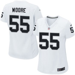 Nike Women's Limited White Road Jersey Oakland Raiders Sio Moore 55