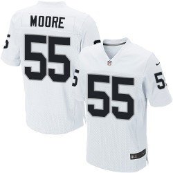 Nike Men's Elite White Road Jersey Oakland Raiders Sio Moore 55