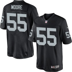 Nike Men's Limited Black Home Jersey Oakland Raiders Sio Moore 55