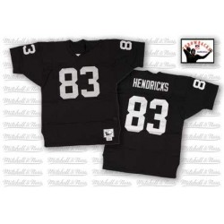 Mitchell and Ness Men's Authentic Black Home Throwback Jersey Oakland Raiders Ted Hendricks 83