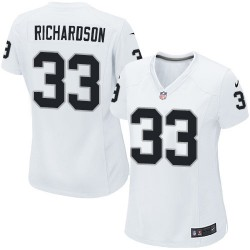 Nike Women's Limited White Road Jersey Oakland Raiders Trent Richardson 33