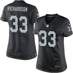 Nike Women's Elite Black Home Jersey Oakland Raiders Trent Richardson 33