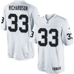 Nike Youth Elite White Road Jersey Oakland Raiders Trent Richardson 33