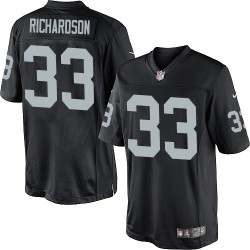 Nike Men's Limited Black Home Jersey Oakland Raiders Trent Richardson 33