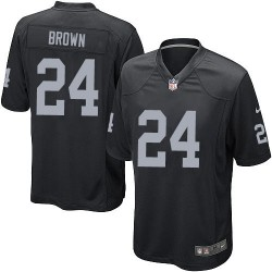 Nike Youth Elite Black Home Jersey Oakland Raiders Willie Brown 24