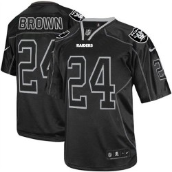Nike Men's Elite Lights Out Black Jersey Oakland Raiders Willie Brown 24