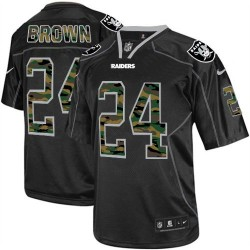 Nike Men's Limited Black Camo Fashion Jersey Oakland Raiders Willie Brown 24