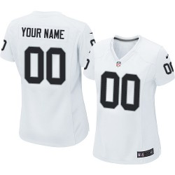 Nike Oakland Raiders Women's Customized Limited White Road Jersey