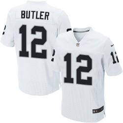 Nike Men's Elite White Road Jersey Oakland Raiders Brice Butler 12