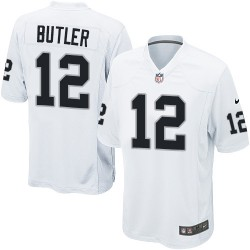 Nike Men's Game White Road Jersey Oakland Raiders Brice Butler 12