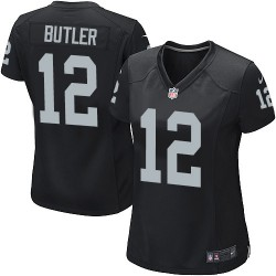 Nike Women's Game Black Home Jersey Oakland Raiders Brice Butler 12
