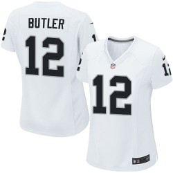 Nike Women's Game White Road Jersey Oakland Raiders Brice Butler 12