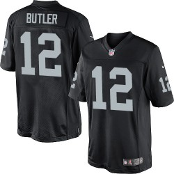 Nike Youth Elite Black Home Jersey Oakland Raiders Brice Butler 12
