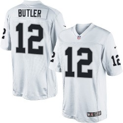 Nike Youth Elite White Road Jersey Oakland Raiders Brice Butler 12