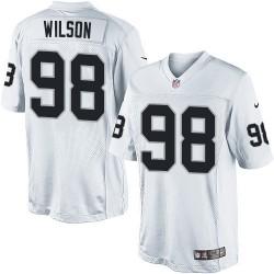 Nike Men's Limited White Road Jersey Oakland Raiders C.J. Wilson 98