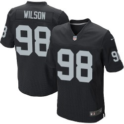 Nike Men's Elite Black Home Jersey Oakland Raiders C.J. Wilson 98