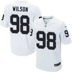 Nike Men's Elite White Road Jersey Oakland Raiders C.J. Wilson 98