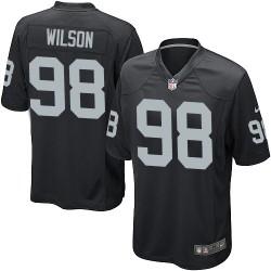 Nike Men's Game Black Home Jersey Oakland Raiders C.J. Wilson 98