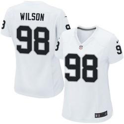 Nike Women's Limited White Road Jersey Oakland Raiders C.J. Wilson 98