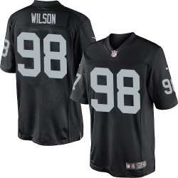 Nike Youth Elite Black Home Jersey Oakland Raiders C.J. Wilson 98