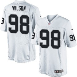 Nike Youth Elite White Road Jersey Oakland Raiders C.J. Wilson 98