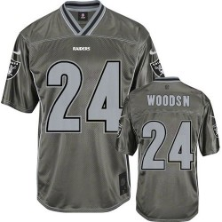 Nike Men's Elite Grey Vapor Jersey Oakland Raiders Charles Woodson 24