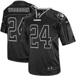 Nike Men's Elite Lights Out Black Jersey Oakland Raiders Charles Woodson 24