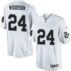 Nike Men's Limited White Road Jersey Oakland Raiders Charles Woodson 24