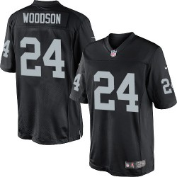 Nike Men's Limited Black Home Jersey Oakland Raiders Charles Woodson 24