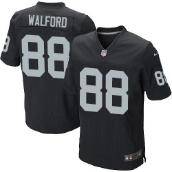 Nike Men's Elite Black Home Jersey Oakland Raiders Clive Walford 88