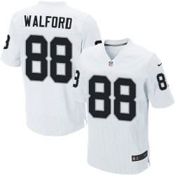 Nike Men's Elite White Road Jersey Oakland Raiders Clive Walford 88