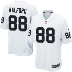 Nike Men's Game White Road Jersey Oakland Raiders Clive Walford 88