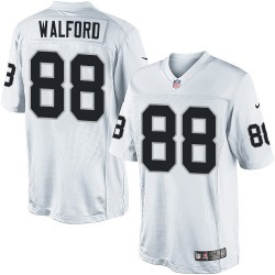 Nike Youth Elite White Road Jersey Oakland Raiders Clive Walford 88