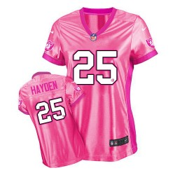 Nike Women's Game Pink New Be Luv'd Jersey Oakland Raiders D.J. Hayden 25