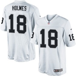 Nike Men's Limited White Road Jersey Oakland Raiders Andre Holmes 18