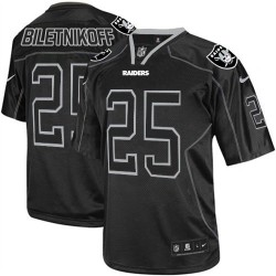 Nike Men's Elite Lights Out Black Jersey Oakland Raiders Fred Biletnikoff 25