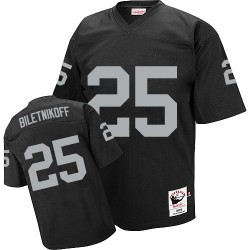 Mitchell and Ness Men's Authentic Black Road Throwback Jersey Oakland Raiders Fred Biletnikoff 25