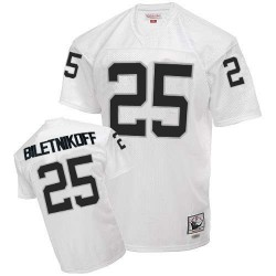 Mitchell and Ness Men's Authentic White Road Throwback Jersey Oakland Raiders Fred Biletnikoff 25