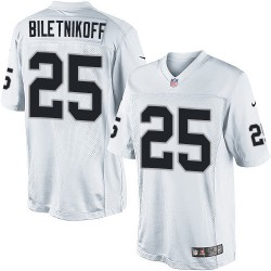 Nike Men's Limited White Road Jersey Oakland Raiders Fred Biletnikoff 25
