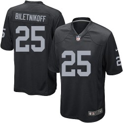 Nike Youth Elite Black Home Jersey Oakland Raiders Fred Biletnikoff 25