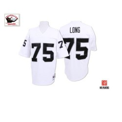 Mitchell and Ness Men's Authentic White Road Throwback Jersey Oakland Raiders Howie Long 75