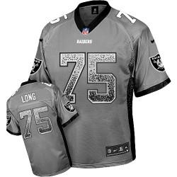 Nike Men's Elite Grey Drift Fashion Jersey Oakland Raiders Howie Long 75