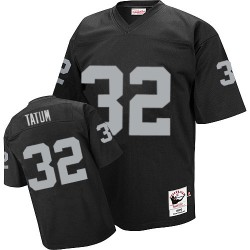 Mitchell and Ness Men's Authentic Black Home Throwback Jersey Oakland Raiders Jack Tatum 32