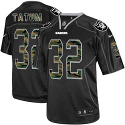 Nike Men's Elite Black Camo Fashion Jersey Oakland Raiders Jack Tatum 32