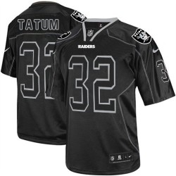 Nike Men's Elite Lights Out Black Jersey Oakland Raiders Jack Tatum 32
