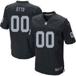 Nike Men's Elite Black Home Jersey Oakland Raiders Jim Otto 0