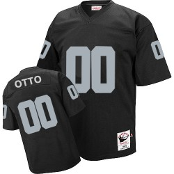 Mitchell and Ness Men's Authentic Black Home Throwback Jersey Oakland Raiders Jim Otto 0